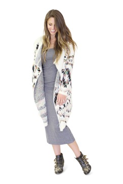 remi sweater and column dress