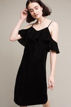 open-shoulder-velvet-midi-dress