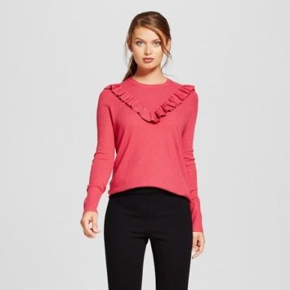 ruffle pullover