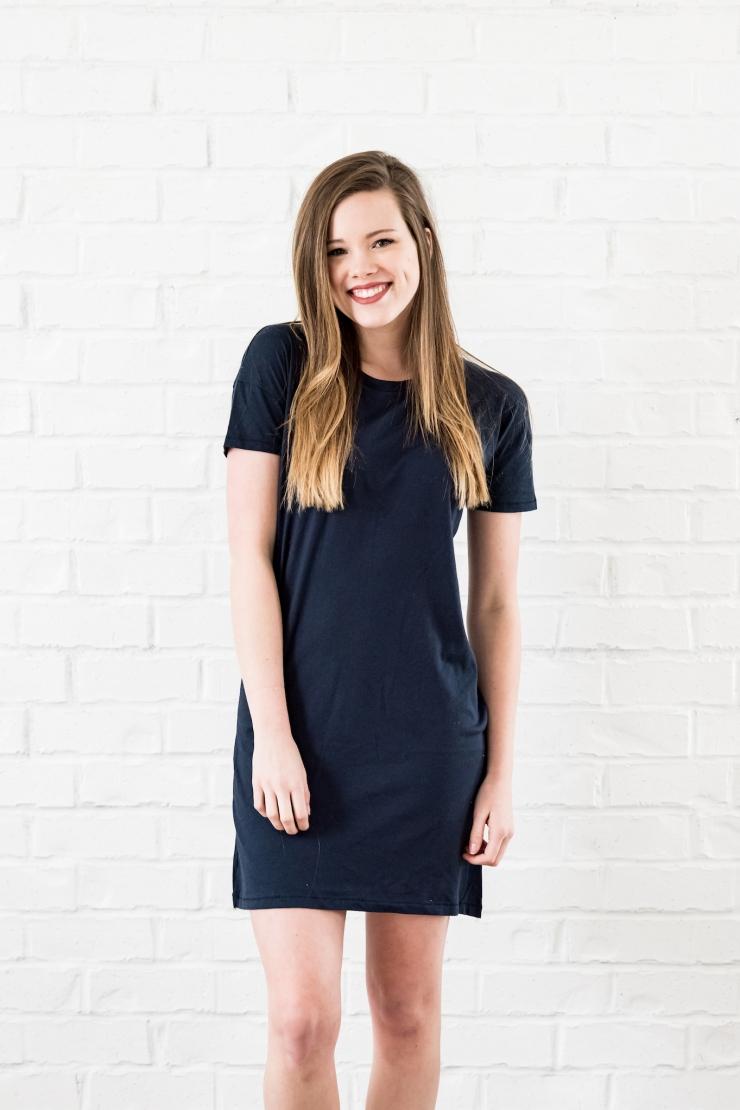 essential tshirt dress midnight - 5