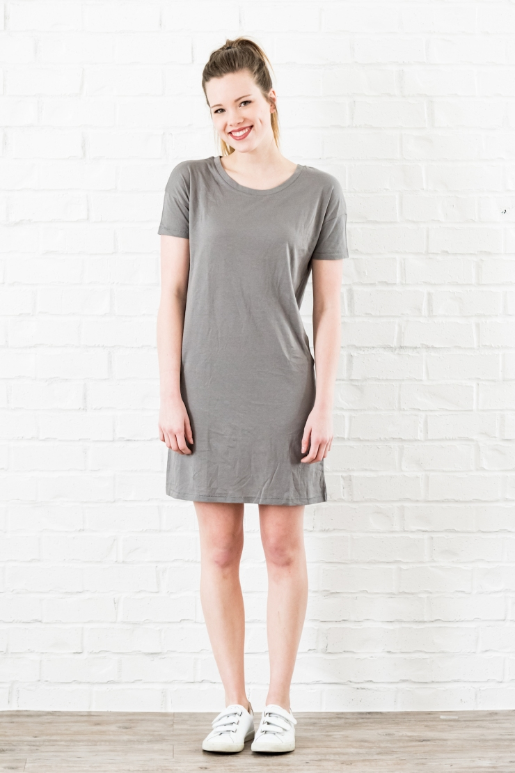 essential tshirt dress nickel - 1