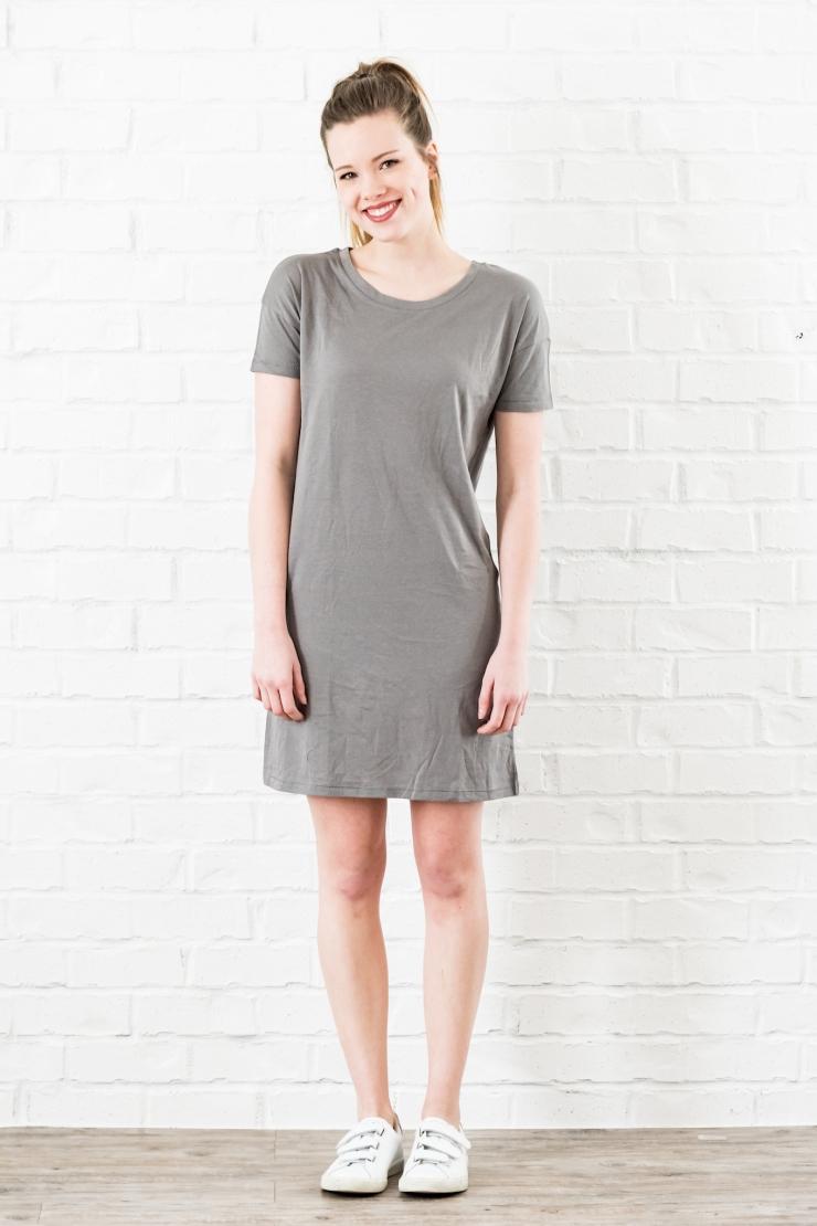 essential tshirt dress nickel - 1