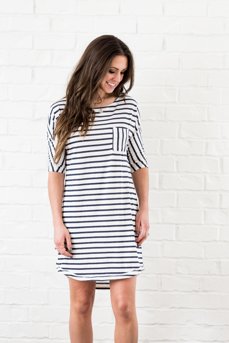stripe dress -1