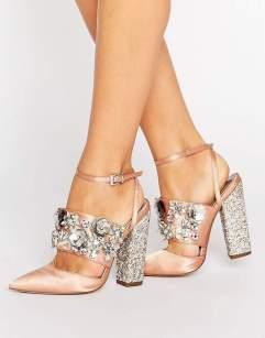 3- embellished heels